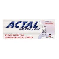 Actal Fast Acting Antacid - 20 Tablets
