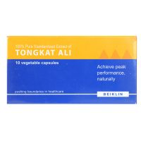 Beiklin 100% Pure Standardized Extract of Tongkat Ali - 10 Vegetable Capsules