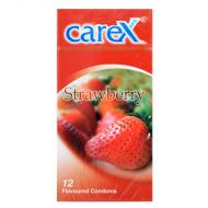 Carex Strawberry Condom - 12 Flavoured Condoms