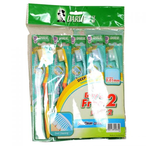 Darlie Less Than 0.01mm Soft Clean Toothbrush - 5 Toothbrush (Buy 3 Free 2)