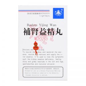 Ding Lu Brand Bushen Yijing Wan (Concentrated) - 100 Pills X 0.3 gm
