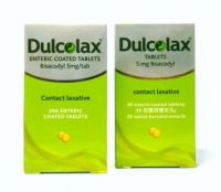 Dulcolax Contact Laxative Tablets - 200 Enteric Coated Tablets x 5 mg