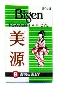 Hoyu Bigen Permanent Powder Hair Color (B) Brown Black - 6 gm