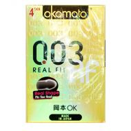 Okamoto 0.03 Real Fit Condoms - 4 Pieces