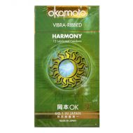 Okamoto Harmony Vibra-Ribbed Condom - 12 Lubricated Comdoms