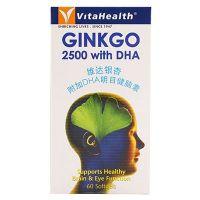 VitaHealth Ginkgo 2500 with DHA - 60 Softgels